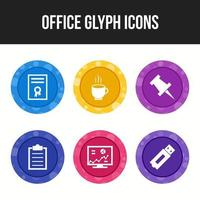 Unique 6 icons for office