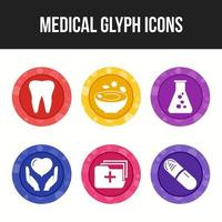 6 pack of medical icons