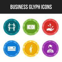 6 iconos para empresas vector