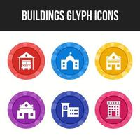 Building and landmarks icon set