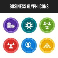 6 pack of business icons