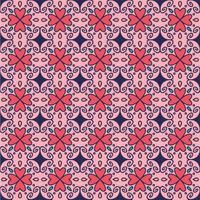 Symmetric hearts seamless pattern background vector