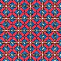 Symmetric flower seamless pattern vector