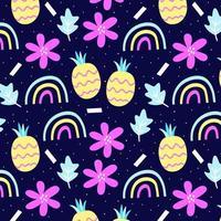 Fun tropical seamless pattern design vector