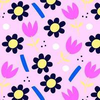 Pink floral seamless pattern