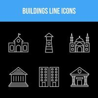 Building and landmarks icon set vector