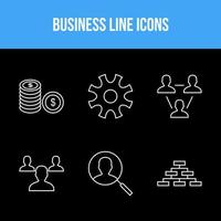 6 icons pack for business