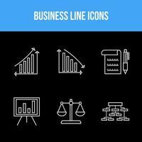 Pack de 6 iconos para empresas vector