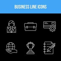 6 Icon Set for Business  vector