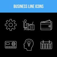 6 business line set