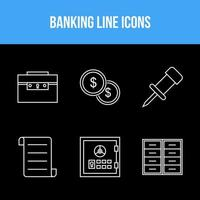Unique banking icons vector