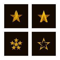 set di icone di stelle di lusso vettore