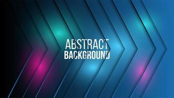 Abstract glowing arrows technology background  vector