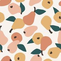 patrón sin costuras con peras simples