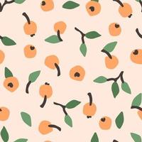 Seamless Pattern with Abstract Berries