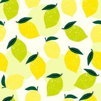 patrón sin costuras con limones y limas