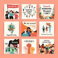 International Women's Day Cards vector