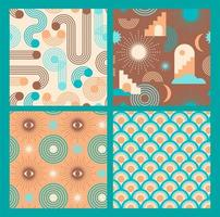 Retro graphic seamless pattern collection