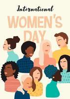 International Women's Day Poster vector