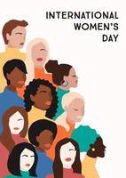 cartel del día internacional de la mujer vector