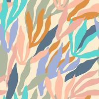 Artistic seamless pattern with abstract leaves