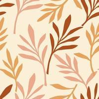 Simple foliage seamless pattern