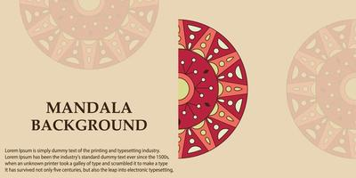 Banner background with mandala design template vector