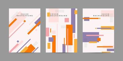 Colorful poster set with geometric shapes vector