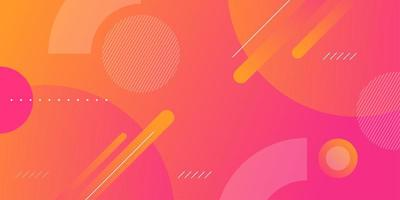 Abstract banner with colorful gradient and shapes vector