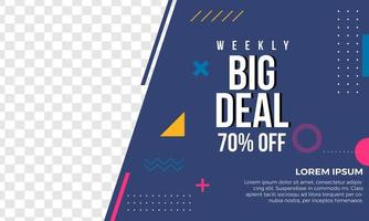 Abstract big sale banner template