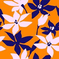 Artistic seamless pattern with abstract flowers