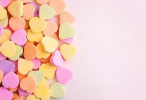 Colorful candy hearts photo