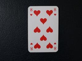 ocho de corazones foto
