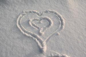Snow heart shape