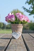 flores y corazon foto