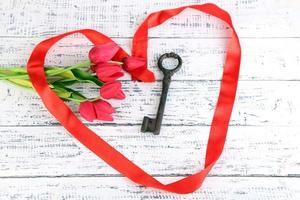 Key to love and happiness. photo