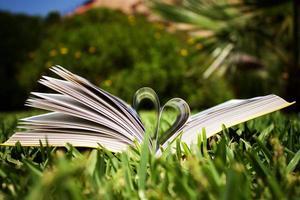 libro en forma de corazón foto