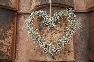 rustic flower heart photo