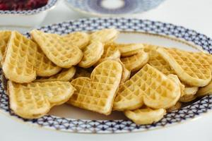 heart shaped waffles photo