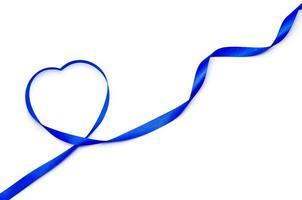 Blue heart ribbon