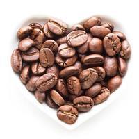 black coffee heart