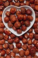 Hazelnut in heart shaped tray