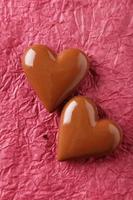 chocolade hart op papier achtergrond