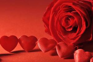 textielharten met roos