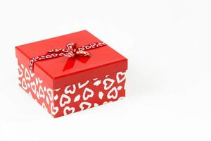 valentines  square candy box isolated on white background