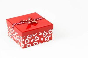 valentines vierkante snoep doos geïsoleerd op een witte achtergrond