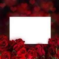 Natural red roses background photo