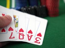 love playing poker (7QA3 upside down) photo