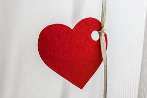 coração romântico de papel vermelho