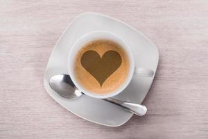 Kaffee mit Herzform